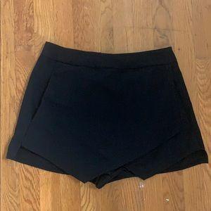 Black envelope skirt